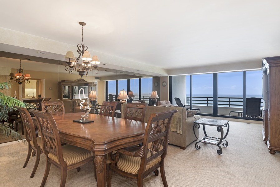 Real Estate Photography - 1500 S Ocean Blvd, S1503, Boca Raton, FL, 33432 - Living Room / Dining Room