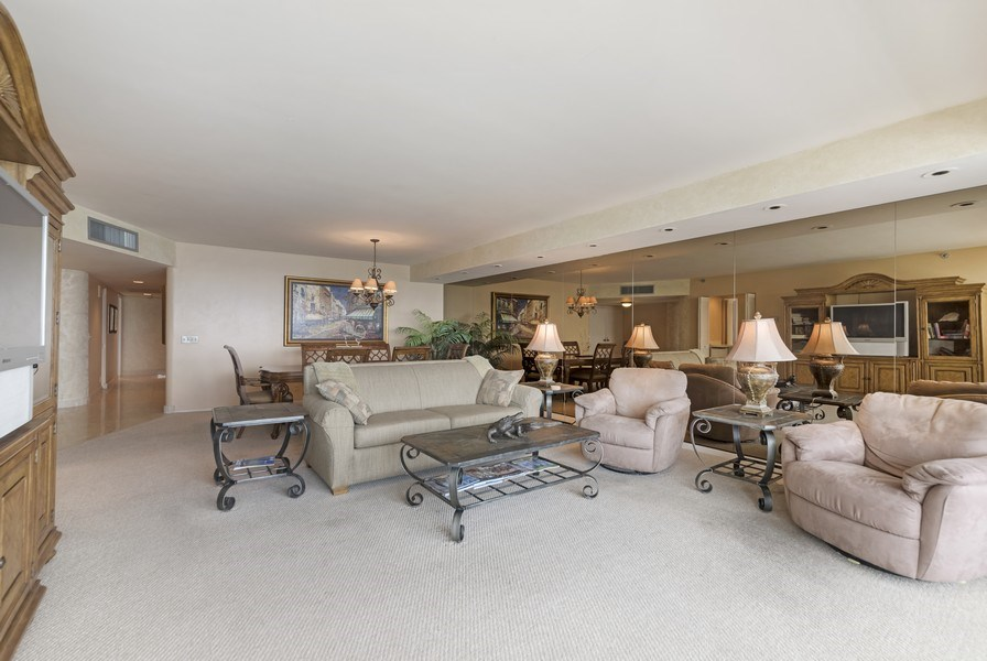 Real Estate Photography - 1500 S Ocean Blvd, S1503, Boca Raton, FL, 33432 - Living Room/Dining Room