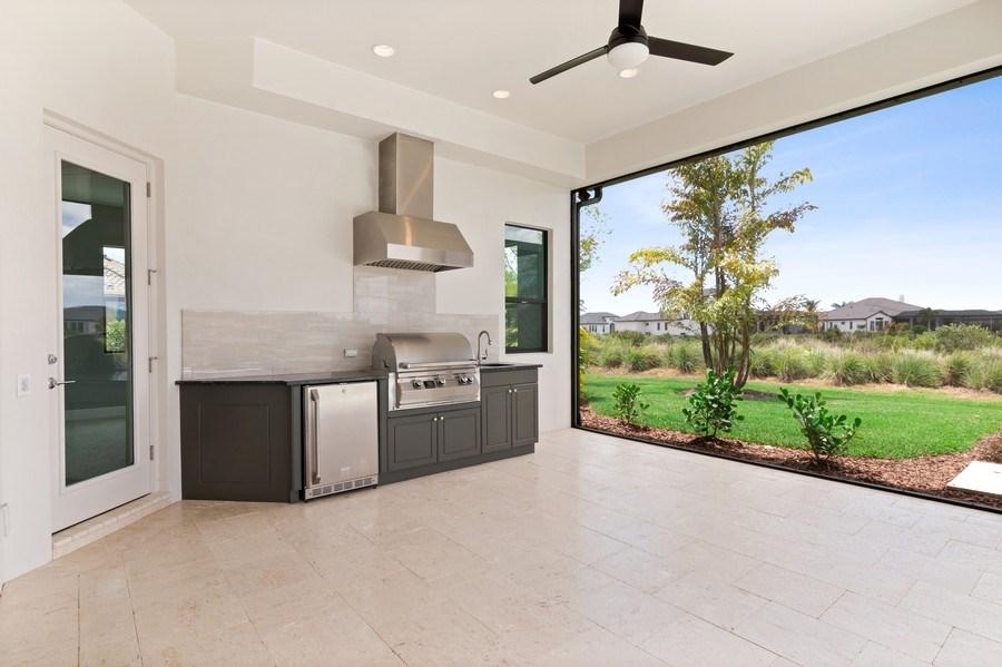 Real Estate Photography - 5420 Greenbrook Drive, Sarasota, FL, 34238 - Cabana and Outdoor Kitchen