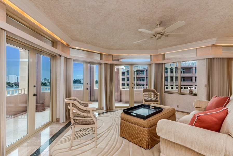 Real Estate Photography - 300 S.E. 5th Ave., #7050, Boca raton, FL, 33432 - Living Room