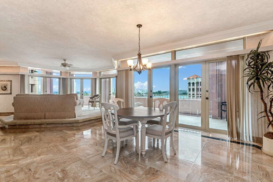 Real Estate Photography - 300 S.E. 5th Ave., #7050, Boca raton, FL, 33432 - Dining Room