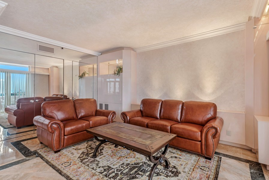 Real Estate Photography - 300 S.E. 5th Ave., #7050, Boca raton, FL, 33432 - Family Room