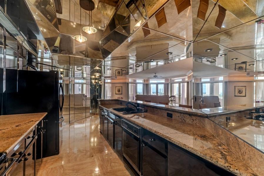 Real Estate Photography - 300 S.E. 5th Ave., #7050, Boca raton, FL, 33432 - Kitchen / Living Room