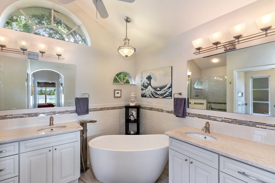 Real Estate Photography - 6520 Highland Pines Circle, Fort Myers, FL, 33966 - Master Bathroom
