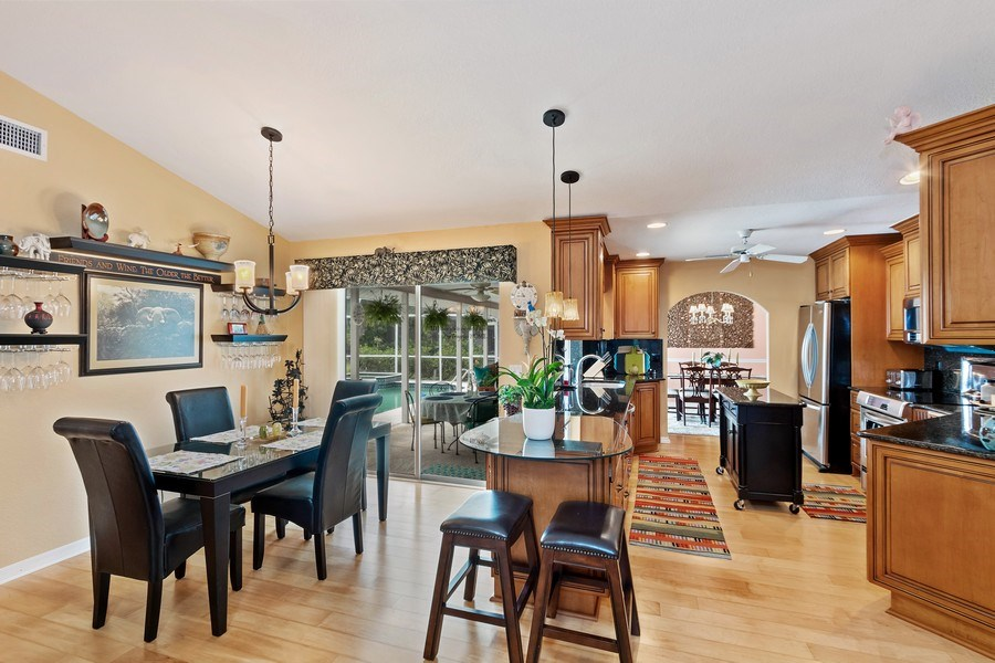 Real Estate Photography - 6520 Highland Pines Circle, Fort Myers, FL, 33966 - Kitchen / Breakfast Room