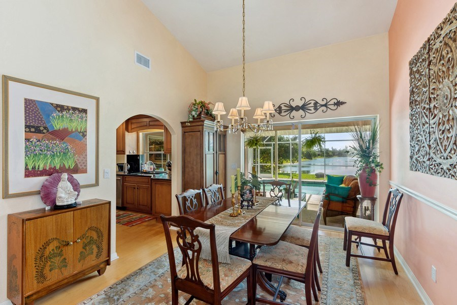 Real Estate Photography - 6520 Highland Pines Circle, Fort Myers, FL, 33966 - Dining Room