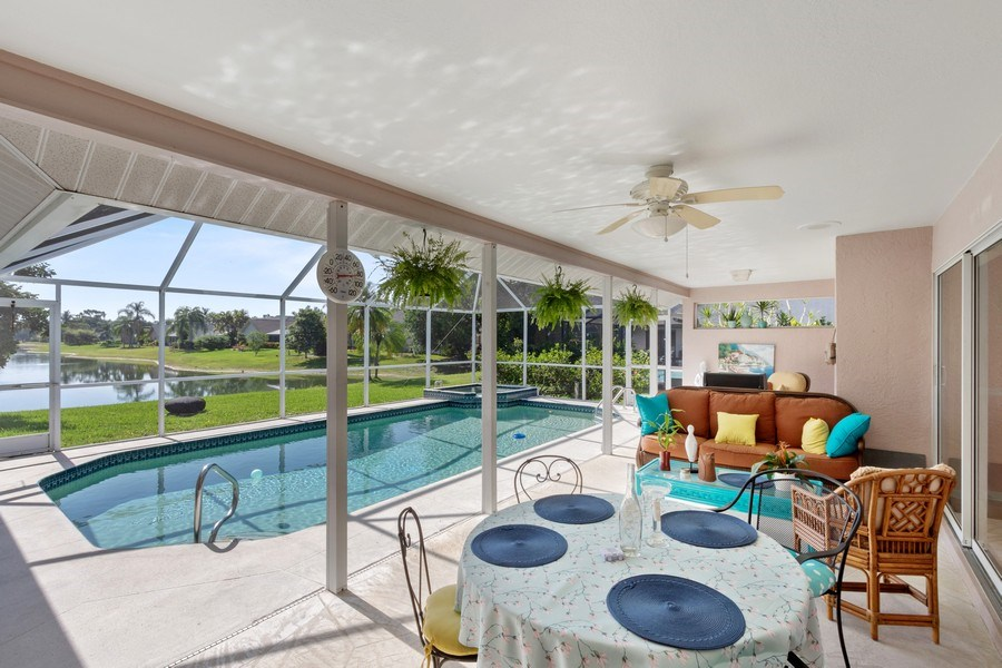 Real Estate Photography - 6520 Highland Pines Circle, Fort Myers, FL, 33966 - Lanai