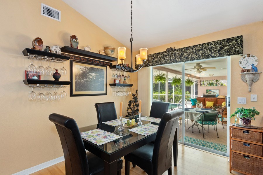 Real Estate Photography - 6520 Highland Pines Circle, Fort Myers, FL, 33966 - Breakfast Nook