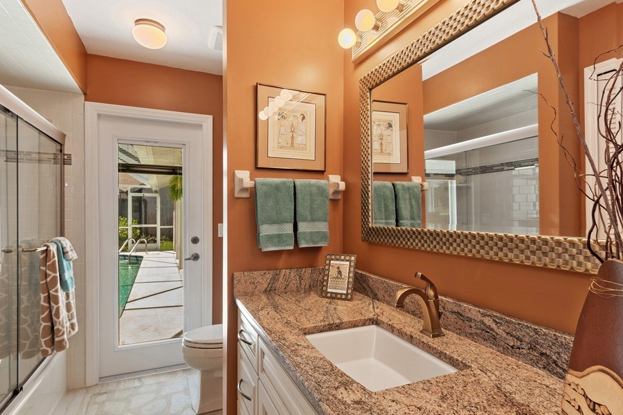 Real Estate Photography - 6520 Highland Pines Circle, Fort Myers, FL, 33966 - 2nd Bathroom