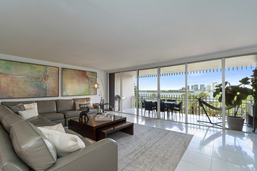 Real Estate Photography - 1 Grove Isle Dr, Unit# A306, Miami, FL, 33133 - Living Room