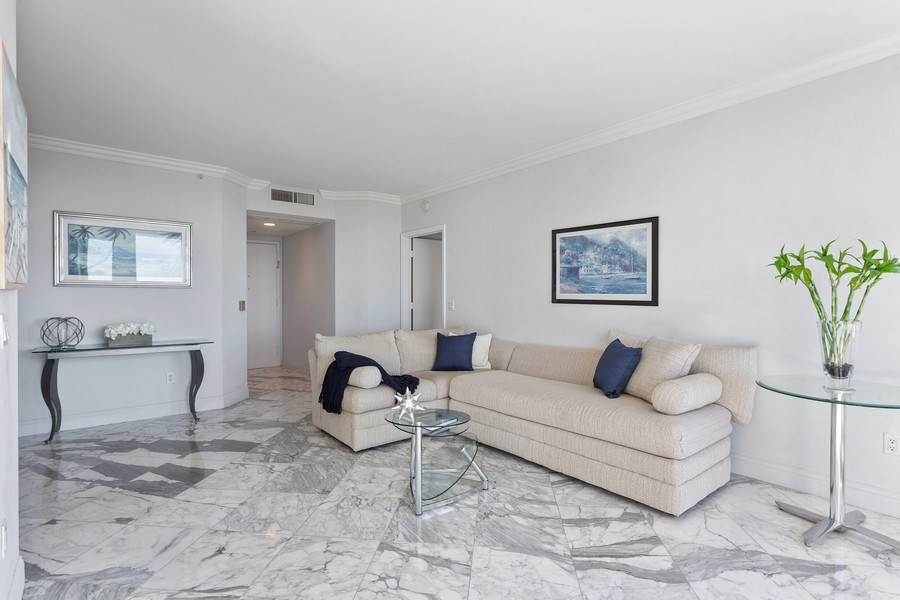 Real Estate Photography - 4779 Collins Ave, Unit 2406, Miami Beach, FL, 33140 - Living Room