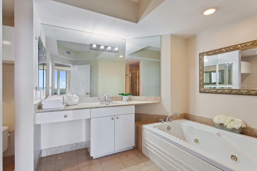 Real Estate Photography - 4779 Collins Ave, Unit 2406, Miami Beach, FL, 33140 - Master Bathroom