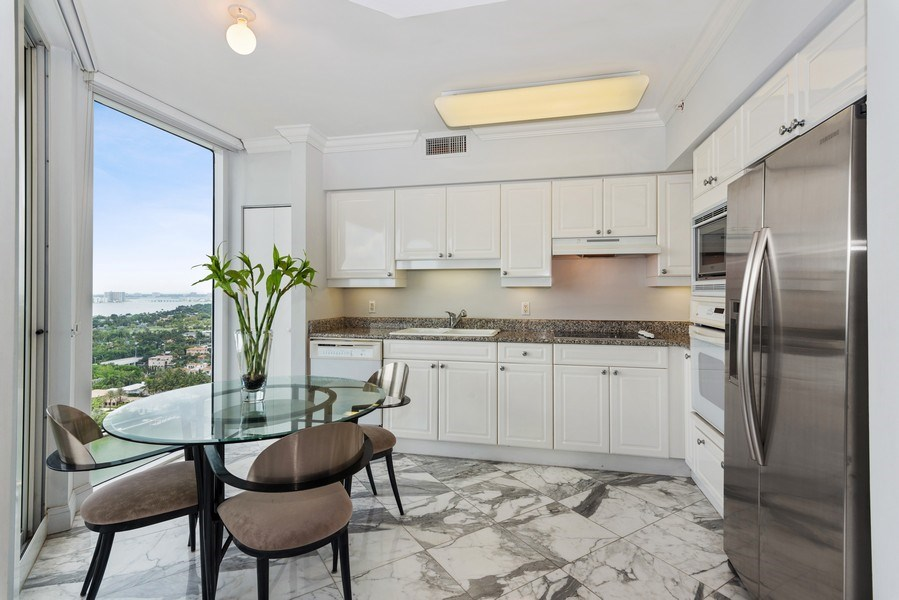 Real Estate Photography - 4779 Collins Ave, Unit 2406, Miami Beach, FL, 33140 - Kitchen / Breakfast Room