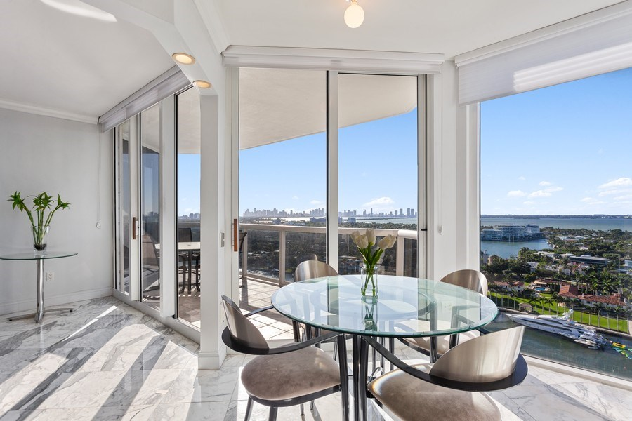 Real Estate Photography - 4779 Collins Ave, Unit 2406, Miami Beach, FL, 33140 - Breakfast Area & Views
