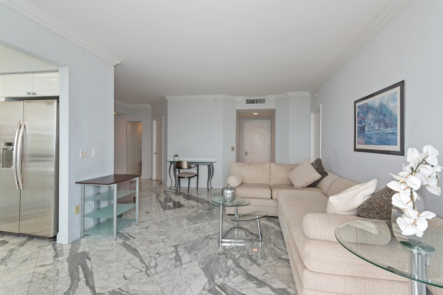 Real Estate Photography - 4779 Collins Ave, Unit 2406, Miami Beach, FL, 33140 - Great Room