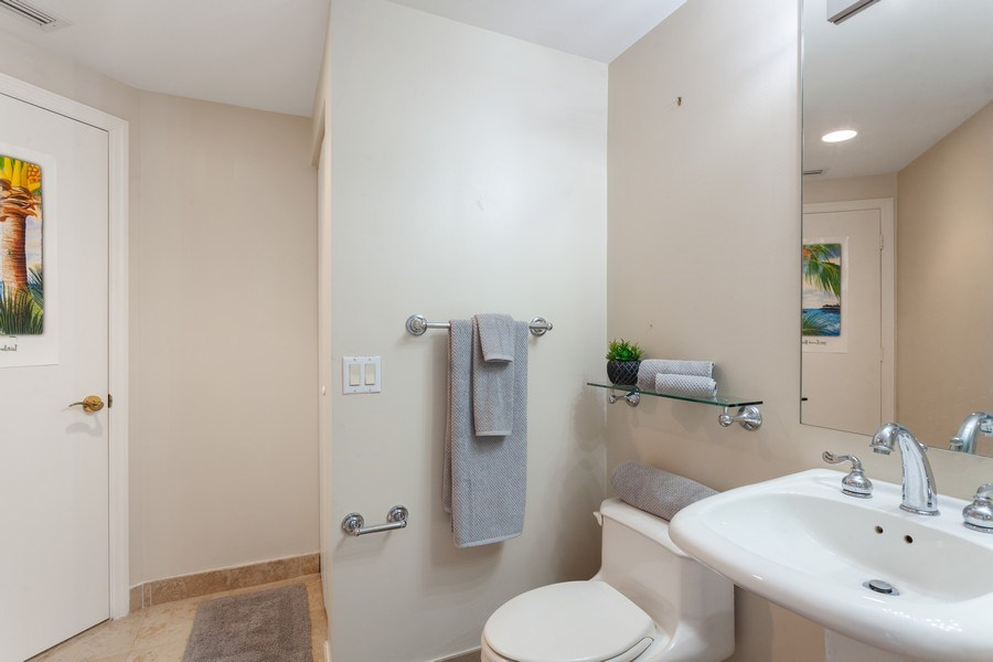 Real Estate Photography - 4779 Collins Ave, Unit 2406, Miami Beach, FL, 33140 - Second Bathroom