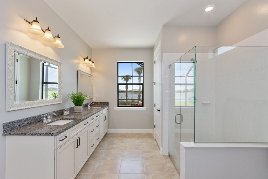 Real Estate Photography - 17454 Newberry Lane, Estero, FL, 33928 - Master Bathroom