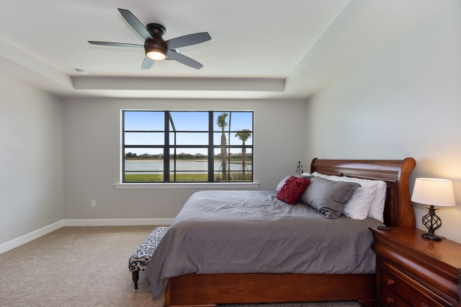 Real Estate Photography - 17454 Newberry Lane, Estero, FL, 33928 - Master Bedroom