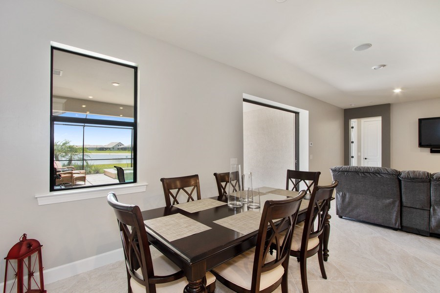 Real Estate Photography - 17454 Newberry Lane, Estero, FL, 33928 - Dining Room