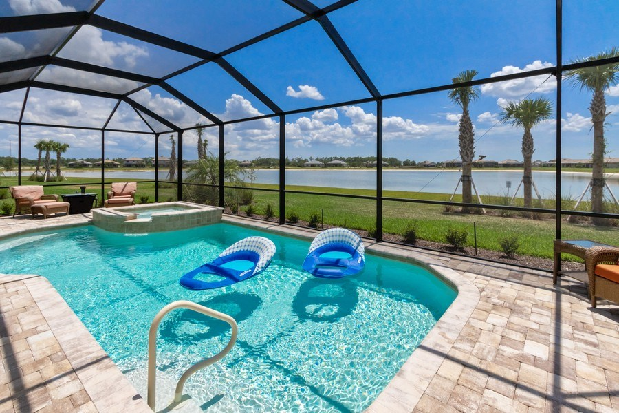 Real Estate Photography - 17454 Newberry Lane, Estero, FL, 33928 - Pool