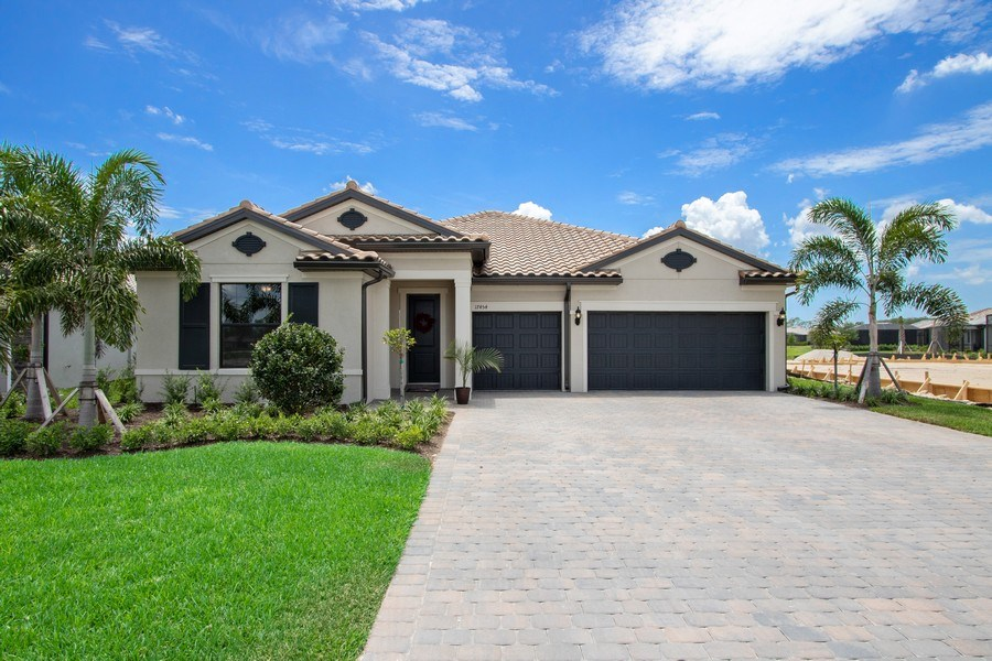 Real Estate Photography - 17454 Newberry Lane, Estero, FL, 33928 - Front View
