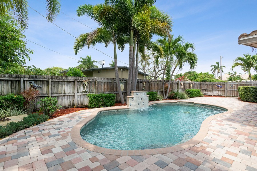 Real Estate Photography - 2617 NE 26th Ave, Fort Lauderdale, FL, 33306 - Pool View