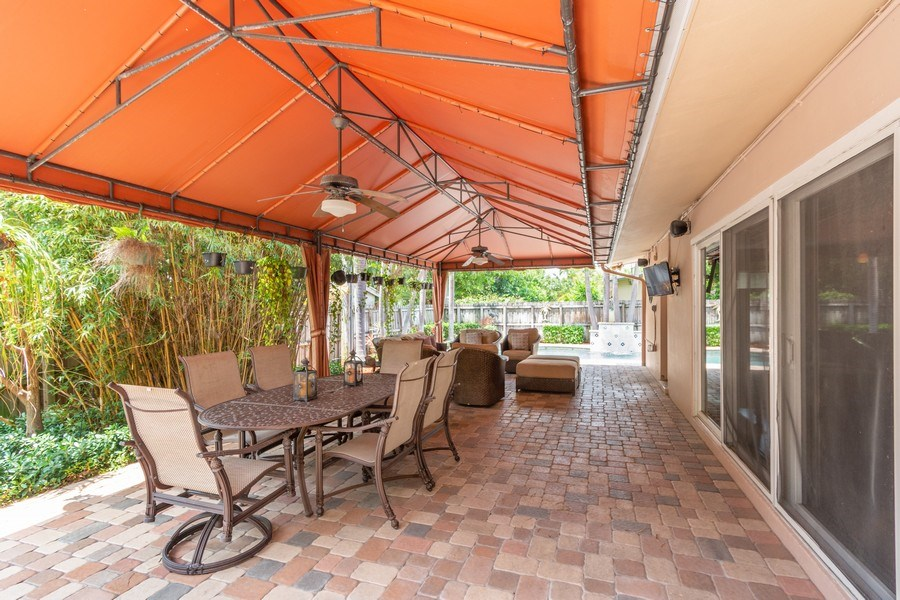Real Estate Photography - 2617 NE 26th Ave, Fort Lauderdale, FL, 33306 - Covered Patio
