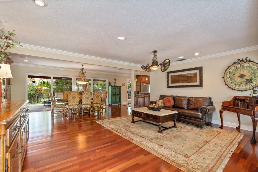 Real Estate Photography - 2617 NE 26th Ave, Fort Lauderdale, FL, 33306 - Living Room / Dining Room