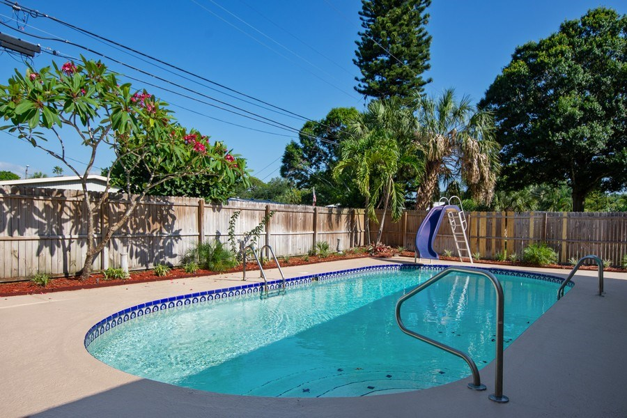 Real Estate Photography - 4146 Indianapolis Street NE, St Petersburg, FL, 33703 - SPARKLING 32' x 15' SWIMMING POOL!