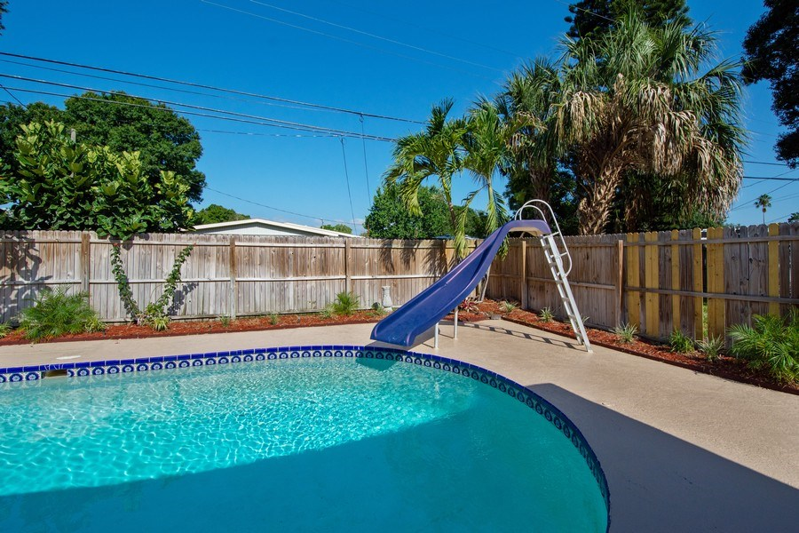 Real Estate Photography - 4146 Indianapolis Street NE, St Petersburg, FL, 33703 - Privacy WOOD FENCED Back Yard!