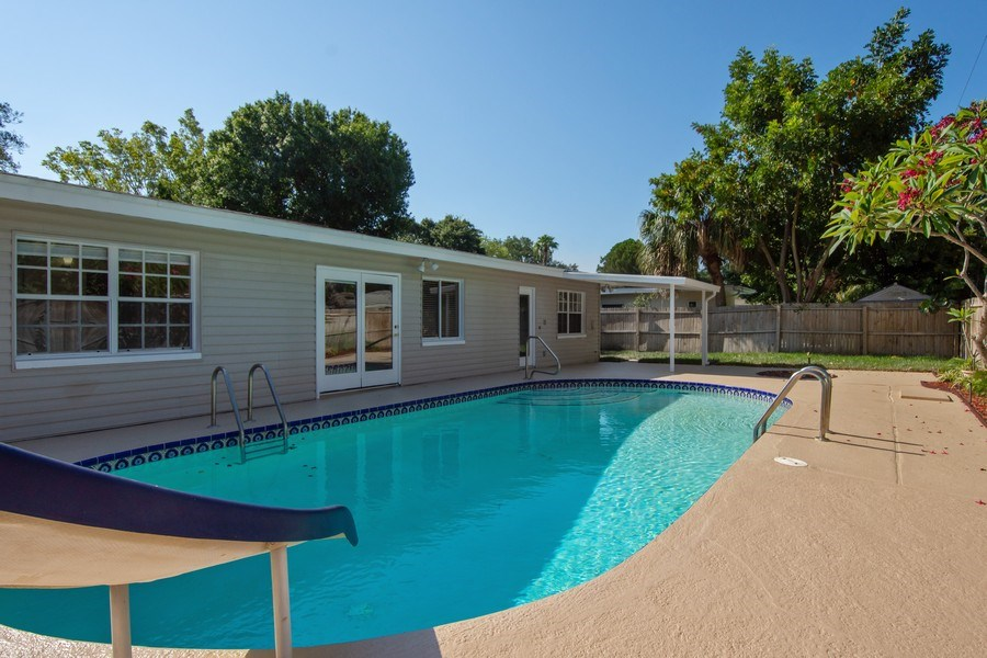 Real Estate Photography - 4146 Indianapolis Street NE, St Petersburg, FL, 33703 - Florida Dream Back Yard! 59 'x 27' POOL DECK!