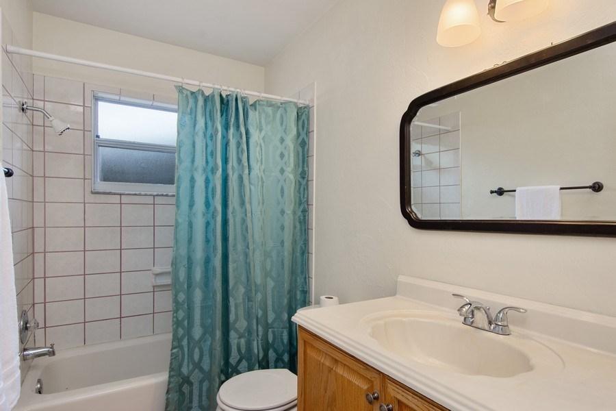 Real Estate Photography - 4146 Indianapolis Street NE, St Petersburg, FL, 33703 - Bathroom #2 has Tub/Shower Combo + Vanity Sink!