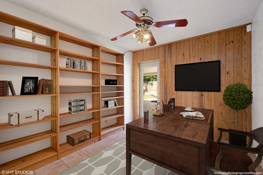 Real Estate Photography - 4146 Indianapolis Street NE, St Petersburg, FL, 33703 - Separate Office/Den OR TV/Study/Play Room!