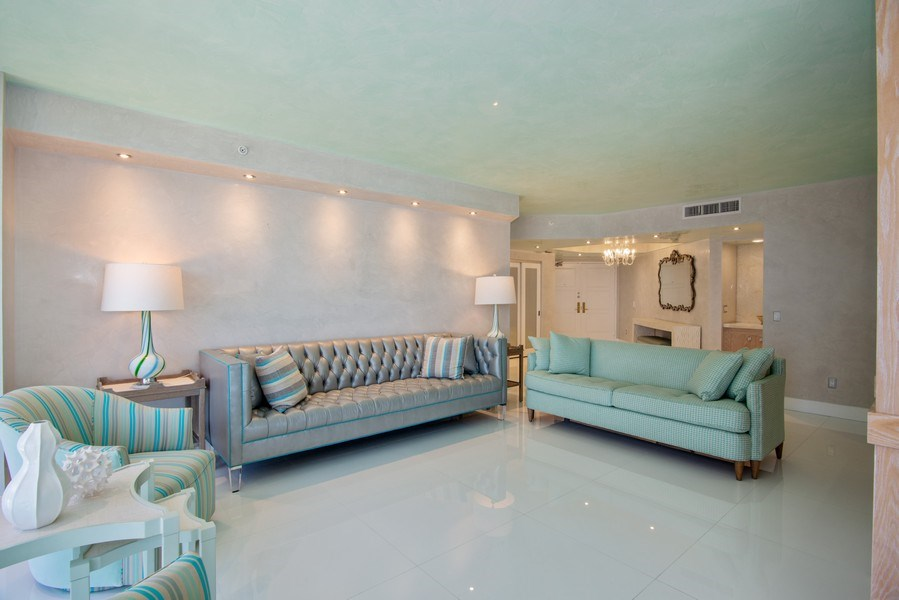 Real Estate Photography - 4779 Collins Ave., Unit 3603, Miami Beach, FL, 33140 - Foyer/Living Room