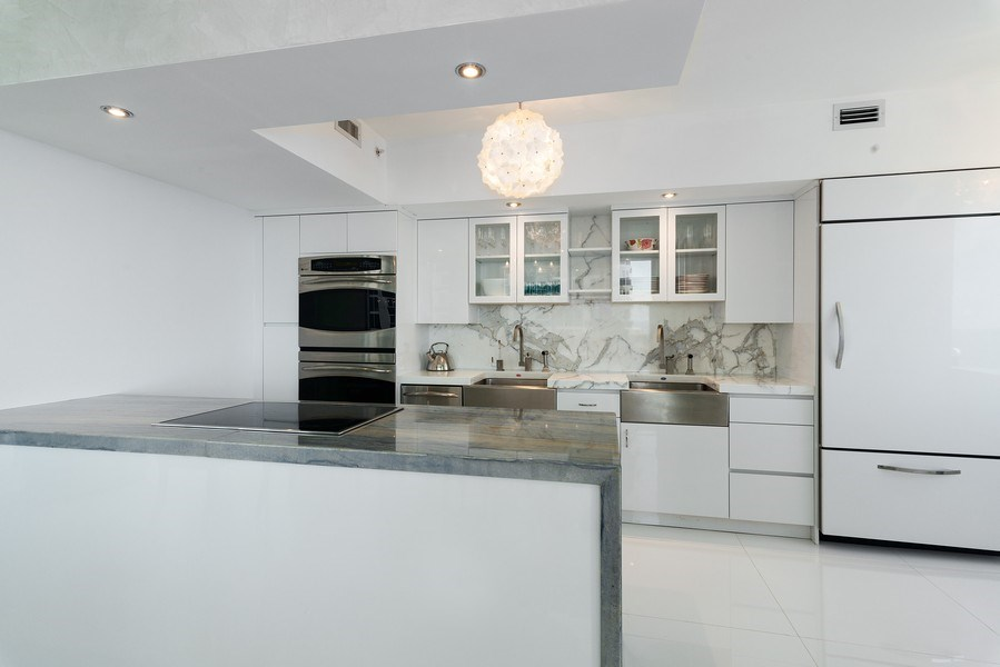 Real Estate Photography - 4779 Collins Ave., Unit 3603, Miami Beach, FL, 33140 - Kitchen
