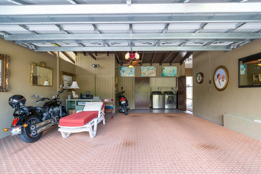 Real Estate Photography - 2648 Middle River Dr, Fort Lauderdale, FL, 33306 - Garage and Laundry Adjacent to North Unit