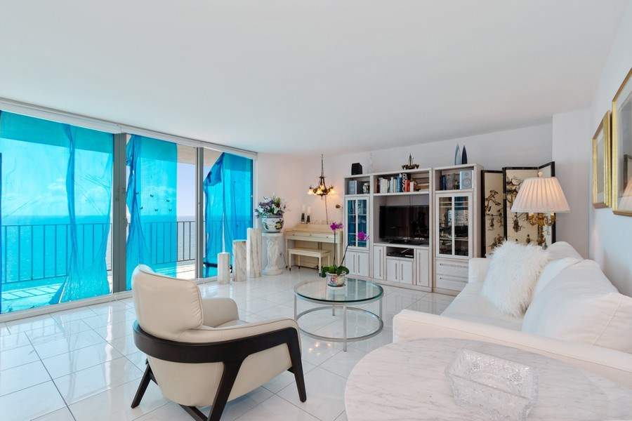 Real Estate Photography - 2030 S Ocean Drive, #2020, Hallandale Beach, FL, 33009 - Living Room