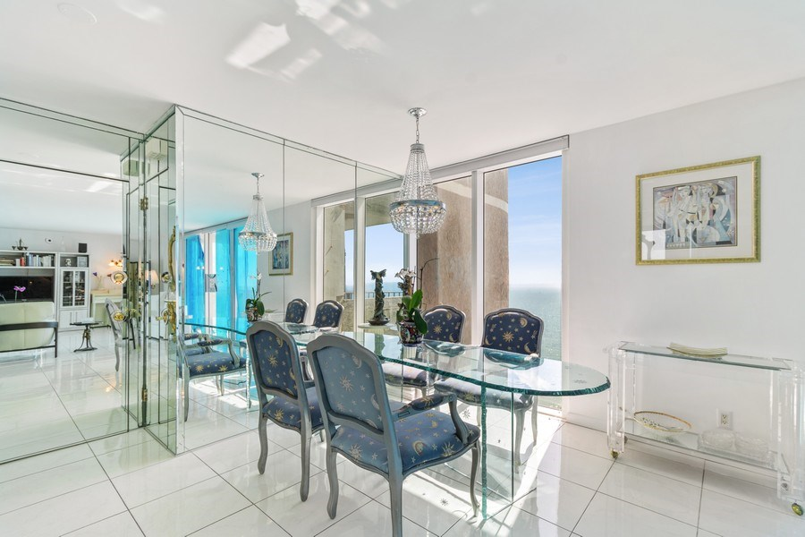 Real Estate Photography - 2030 S Ocean Drive, #2020, Hallandale Beach, FL, 33009 - Dining Room