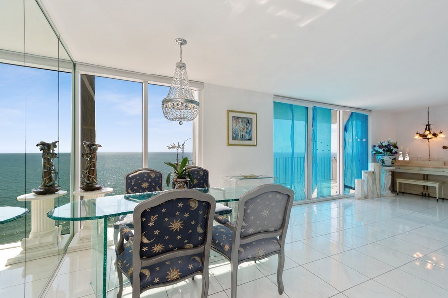 Real Estate Photography - 2030 S Ocean Drive, #2020, Hallandale Beach, FL, 33009 - Dining Area