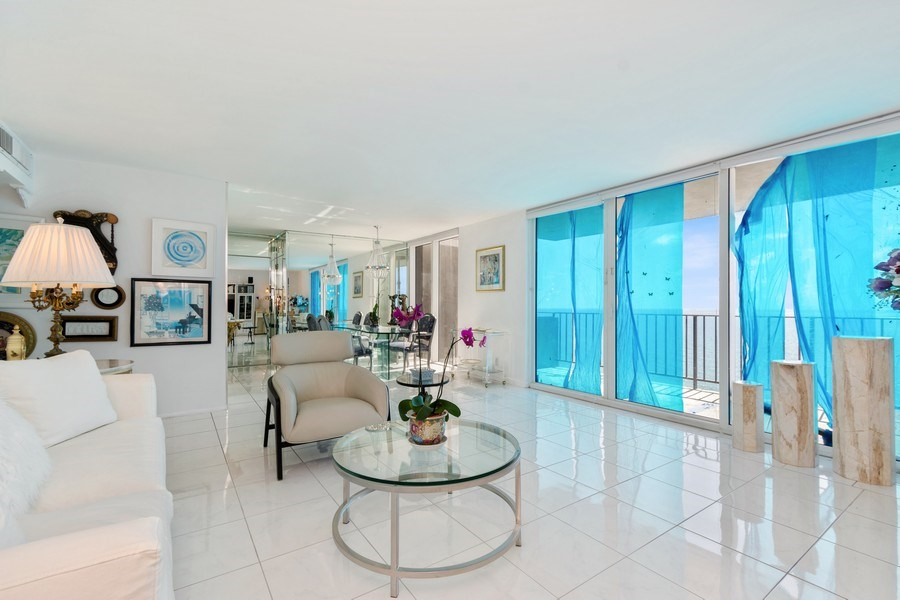 Real Estate Photography - 2030 S Ocean Drive, #2020, Hallandale Beach, FL, 33009 - Living Room / Dining Room