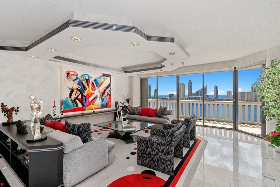 Real Estate Photography - 3000 Island Blvd, Apt 1702, Aventura, FL, 33160 - Living Room