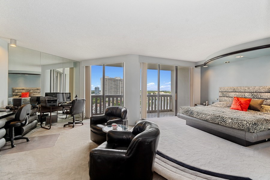 Real Estate Photography - 3000 Island Blvd, Apt 1702, Aventura, FL, 33160 - Master Bedroom