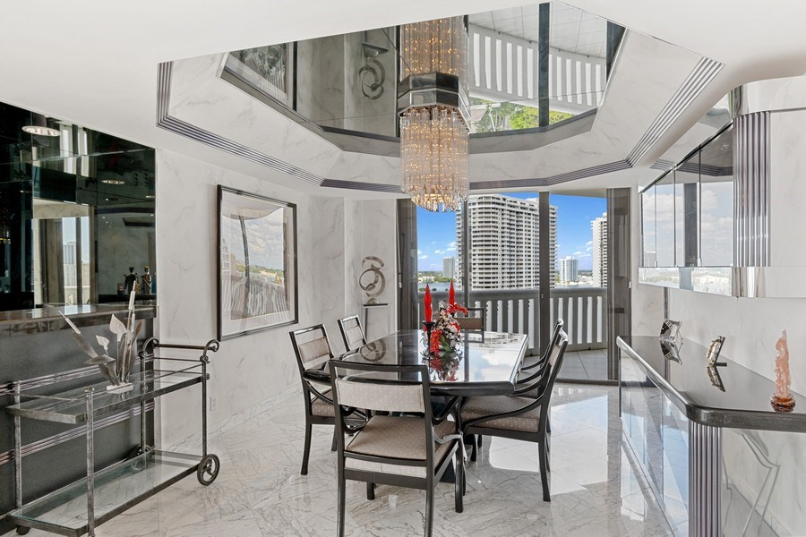 Real Estate Photography - 3000 Island Blvd, Apt 1702, Aventura, FL, 33160 - Dining Room