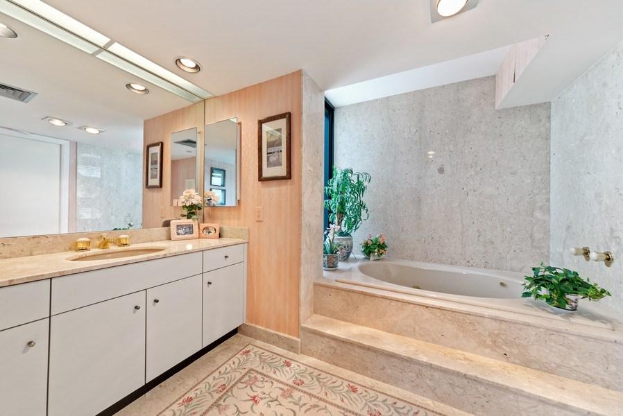Real Estate Photography - 1500 S Ocean Blvd, S601, Boca Raton, FL, 33432 - Master Bathroom
