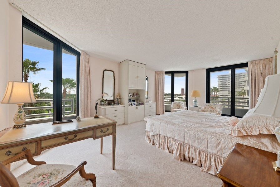 Real Estate Photography - 1500 S Ocean Blvd, S601, Boca Raton, FL, 33432 - Master Bedroom