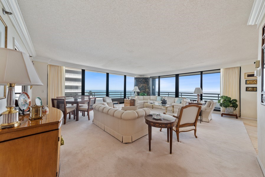 Real Estate Photography - 1500 S Ocean Blvd, S601, Boca Raton, FL, 33432 - Living Room