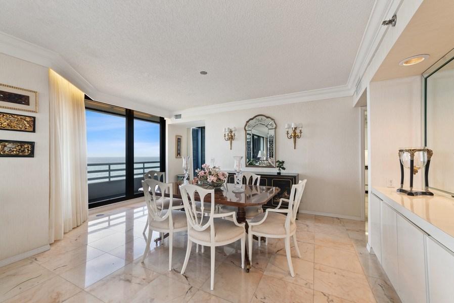 Real Estate Photography - 1500 S Ocean Blvd, S601, Boca Raton, FL, 33432 - Dining Room