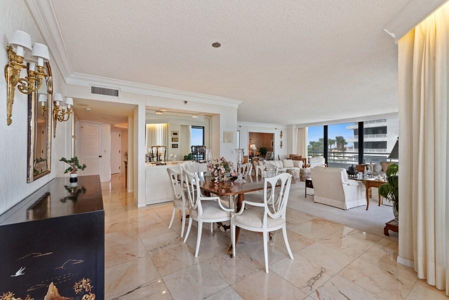Real Estate Photography - 1500 S Ocean Blvd, S601, Boca Raton, FL, 33432 - Living Room / Dining Room