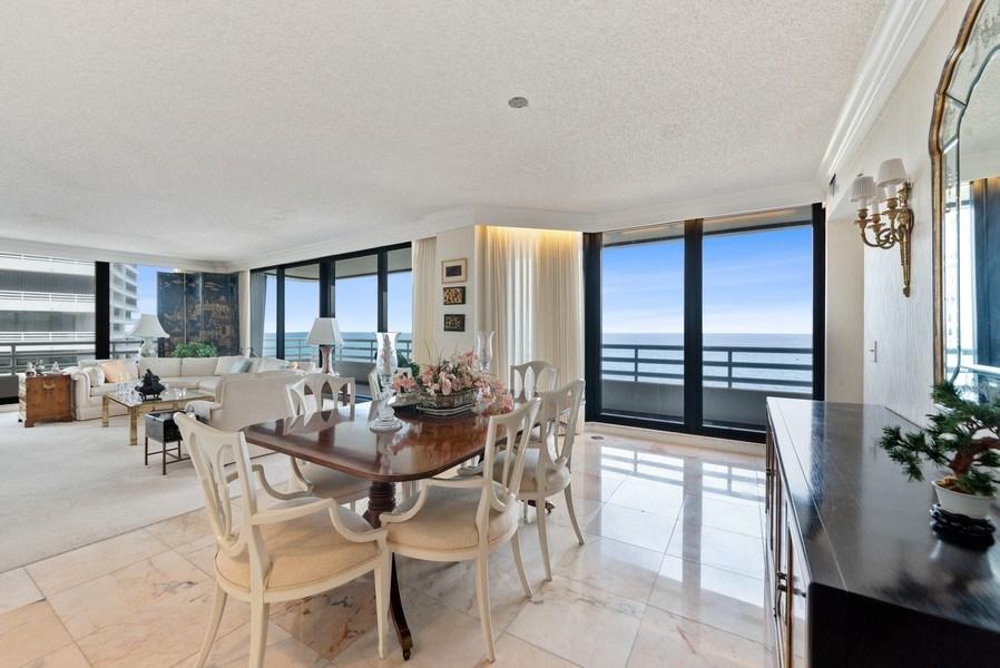 Real Estate Photography - 1500 S Ocean Blvd, S601, Boca Raton, FL, 33432 - Living Room/Dining Room
