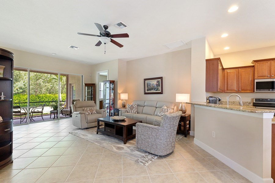 Real Estate Photography - 11261 Suffield St, Fort Myers, FL, 33913 - Family Room / Kitchen